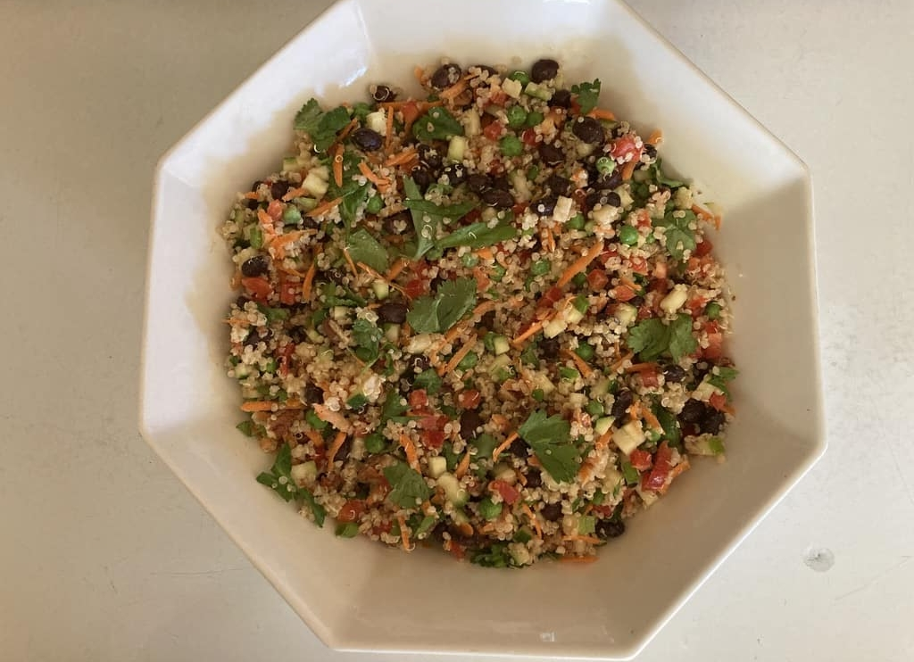 quinoa salad with toasted pecans