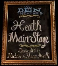 "Heath Mainstage sign: ""Dedicated to Michael & Mona Heath"""