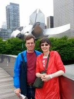 Michael and Mona in Chicago's Millennium Park