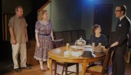 Brian Parry, Jan Ellen Graves, Carley Moseley, and Pat Whalen in Clybourne Park at Redtwist Theatre