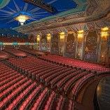 Paramount Theatre interior, where Mary Poppins flew from stage to rear balcony