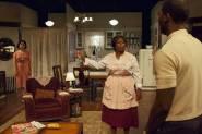 Toni Martin, Greta Oglesby, and Jerod Haynes in A Raisin in the Sun at TimeLine