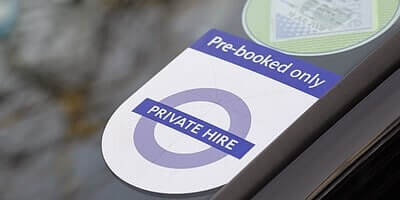 Private hire taxi and driver service