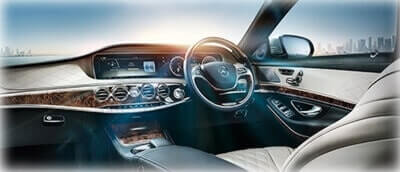 frontseat s class mercedes luxury chauffeur driven cars