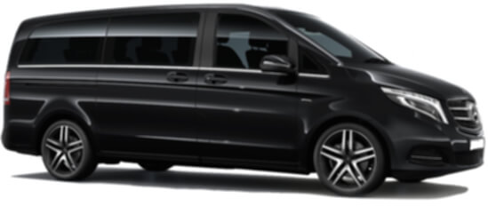 mercedes v class chauffeur driven airport black car service