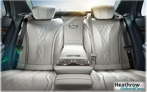 white interior s class mercedes luxury chauffeur car hire with driver