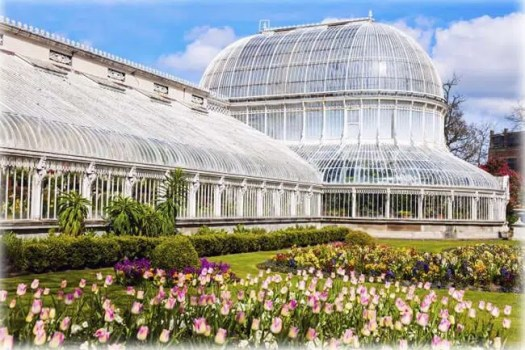 Palm House in Belfast. Belfast, Northern Ireland, United Kingdom