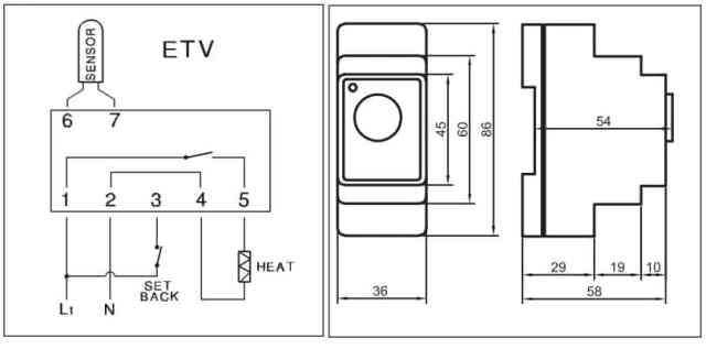 põrandakütte termostaat temperatuuri regulaator devireg 330