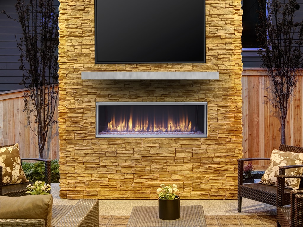 outdoor gas fireplaces and fire pits