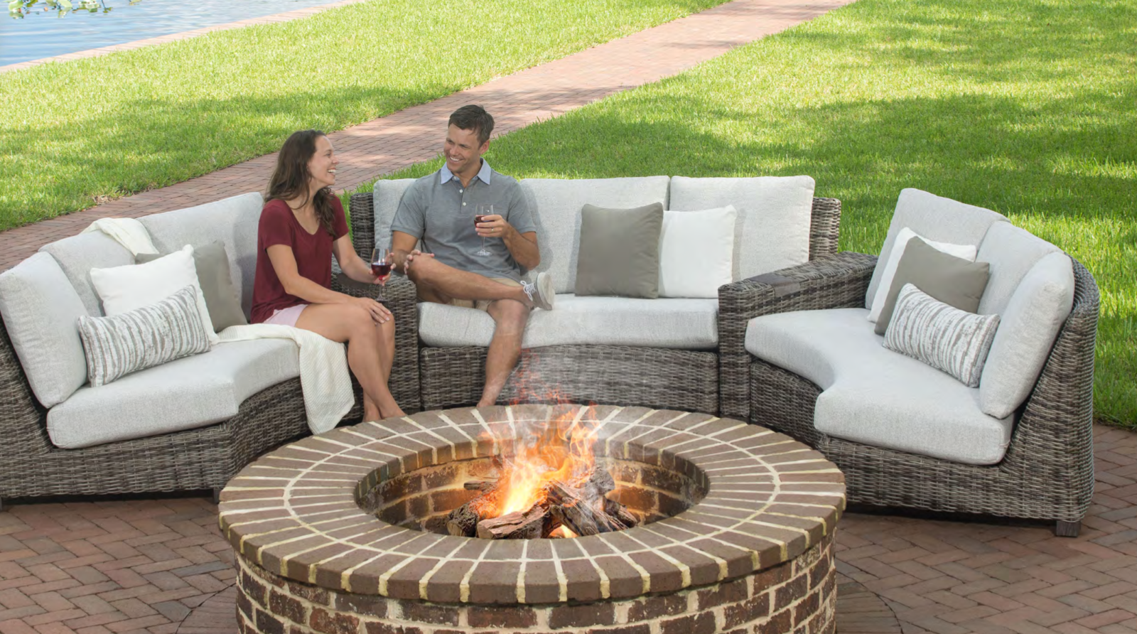 bella valone curved sectional patio
