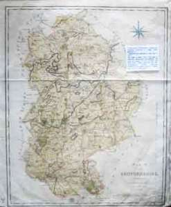 Bedfordshire   Original   Maps   A New Map of Bedfordshire  Divided into Hundreds exhibiting its roads   rivers  parks  c   2  A detailed map of the county   Good condition with  wide blank