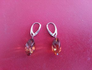 faceted amber earrings 62