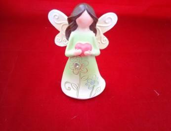 small bright green angel