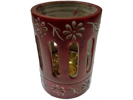 coloured incense or resin burner red