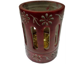 coloured incense or resin burner red