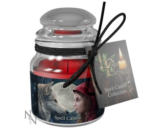 Love Spell Candle Rose 9 cm