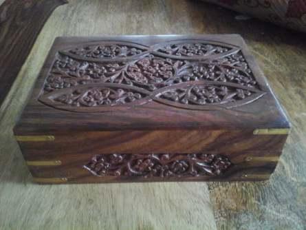 Wooden Box Brass Corners