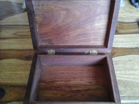Wooden Box with Brass Corners