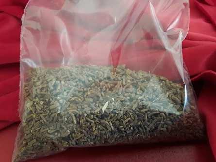 Valerian root in bag plastic