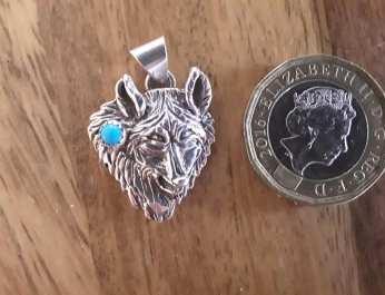 Wolf Head Pendant Silver PAWHT 3