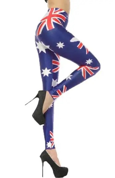 Australian Flag Womens Costume Leggings Australia Day Leggings