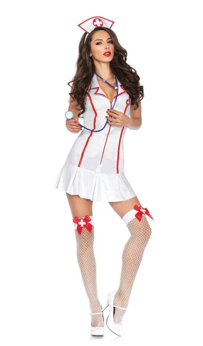 Womens Sexy Nurse Fancy Dress Costume