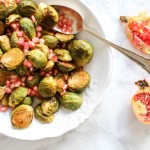 Honey Roasted Brussels Sprouts with Pomegranate Seeds