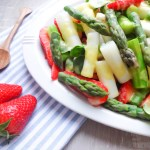 Asparagus Salad with Strawberries and Mango-Vinaigrette