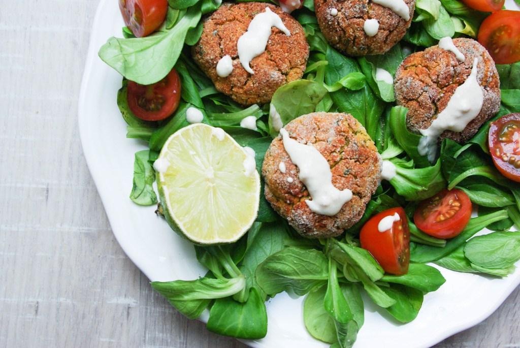 Red Lentil-Falafel with Tahini-Lime-Dip