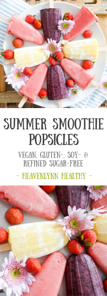 Summer Smoothie Popsicles - vegan, gluten-free, refined sugar-free