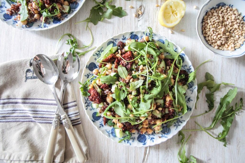 Quinoa, Chickpea and Sun-Dried Tomato Salad