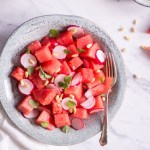 Watermelon, Radish and Cherry Tomato Salad