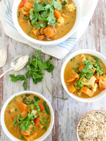 Sweet Potato and Cauliflower Thai Curry