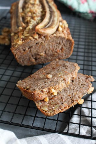 Healthy Banana Carrot Bread - plant based, gluten free, refined sugar free, vegan - heavenlynnhealthy.com