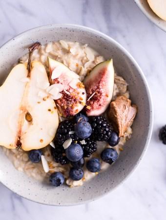 Pear and Hazelnut Porridge