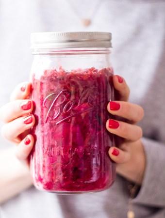 Healthy Pink Kimchi