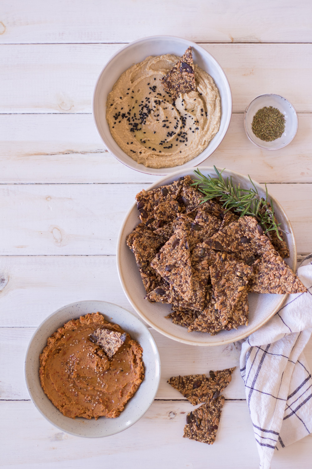 Gluten-free seed crackers with rosemary - plant-based, vegan, gluten free, refined sugar free - heavenlynnhealthy.com