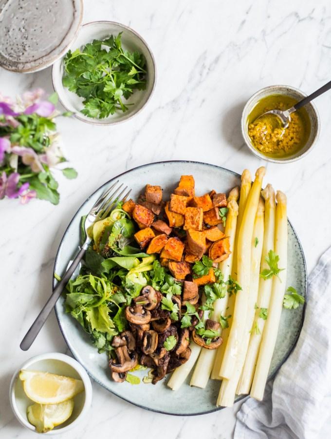 Spring Asparagus Bowl - plant-based, vegan, gluten free, refined sugar free - heavenlynnhealthy.com