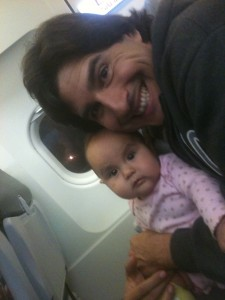 daddy and baby fist flight