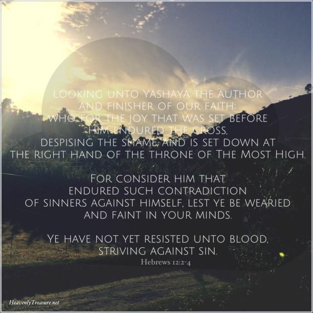 Meditating on Hebrews 12