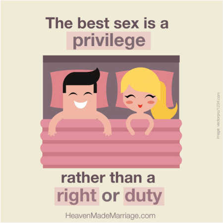 Sex is a privilege
