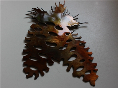Pine Cone Pair Metal Art Decor