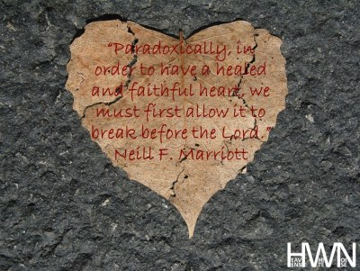 Broken heart before the Lord