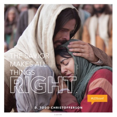 The Savior makes all things right