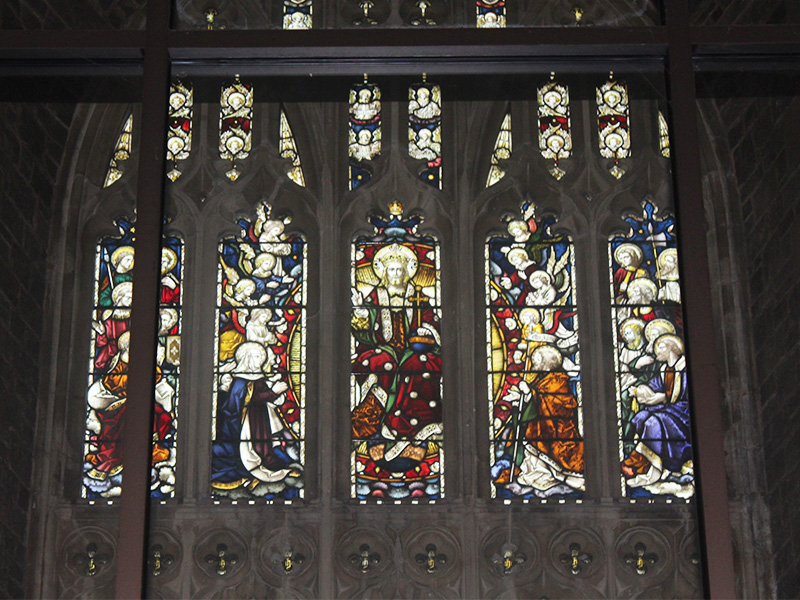 Christ In Glory, stained glass window
