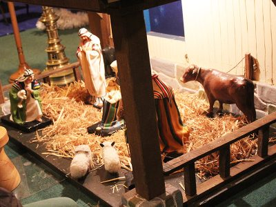 The Crib at Christmas time