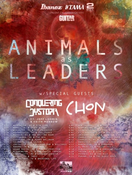 animals as leaders 2014 may june tour
