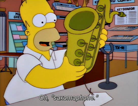 Simpsons saxomaphone