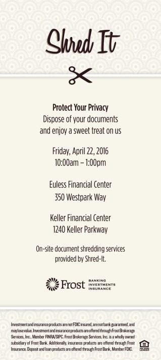Shred It Event-Euless-Keller