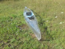 clear kayak front view